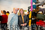 David Morrison and Cathy Sadlier at multimedia artist, Lisa Fingleton's Exhibition  True Ground at  Siamsa Tire on Friday