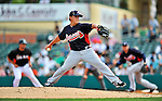 13 March 2012: Atlanta Braves pitcher Kris Medlen on the mound during a Spring Training game against the Miami Marlins at Roger Dean Stadium in Jupiter, Florida. The two teams battled to a 2-2 tie playing 10 innings of Grapefruit League action. Mandatory Credit: Ed Wolfstein Photo