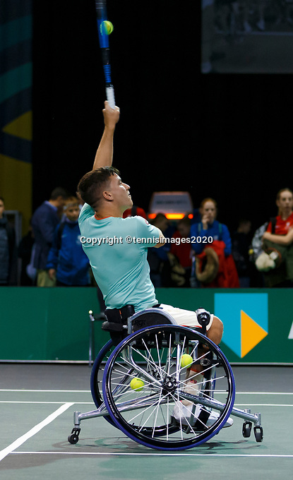 Rotterdam, The Netherlands, 14 Februari 2020, ABNAMRO World Tennis Tournament, Ahoy,   Wheelchair: Gordon Reid (GBR). <br /> Photo: www.tennisimages.com