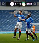 16.11.2019 Rangers Colts v Wrexham: Jamie Barjonas celebrates his goal for Rangers