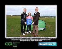 Greystones Golf Club Girls With Kate Wright CGI and Brendan Byrne Bank of Ireland.<br /> Junior golfers from across Leinster practicing their skills at the regional finals of the Dubai Duty Free Irish Open Skills Challenge supported by Bank of Ireland at the Heritage Golf Club, Killinard, Co Laois. 2/04/2016.<br /> Picture: Golffile | Fran Caffrey<br /> <br /> <br /> All photo usage must carry mandatory copyright credit (© Golffile | Fran Caffrey)