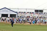 Patrick Reed (USA) plays his 2nd shot on the 8th hole during Saturday's Round 3 of the 118th U.S. Open Championship 2018, held at Shinnecock Hills Club, Southampton, New Jersey, USA. 16th June 2018.<br /> Picture: Eoin Clarke | Golffile<br /> <br /> <br /> All photos usage must carry mandatory copyright credit (&copy; Golffile | Eoin Clarke)