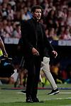 Atletico de Madrid's coach Diego Pablo Simeone during La Liga match between Atletico de Madrid and Getafe CF at Wanda Metropolitano Stadium in Madrid, Spain. August 18, 2019. (ALTERPHOTOS/A. Perez Meca)