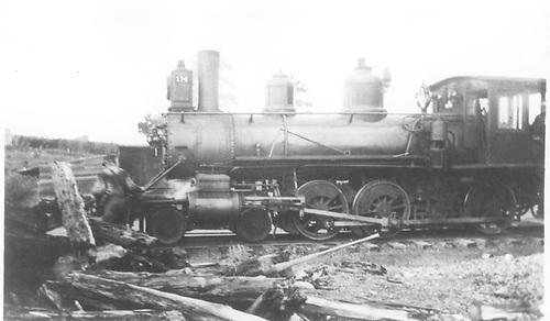 Engine #174 in yards at Santa Fe, NM.<br /> D&amp;RG  Santa Fe, NM  ca 1903-1910