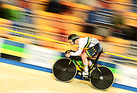 Picture by Alex Broadway/SWpix.com - 02/03/2018 - Cycling - 2018 UCI Track Cycling World Championships, Day 3 - Omnisport, Apeldoorn, Netherlands - Matthew Glaetzer of Australia competes in the Men's Sprint Qualifying.