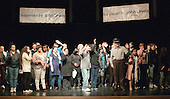 "The whole cast rehearsing the Grand Finale.  Special Olympics Surrey put on a show,   ""Beyond the Stars"", at the Rose Theatre, Kingston upon Thames to raise money for the  SOGB team.  The Special Olympics are for athletes with learning disabilities."