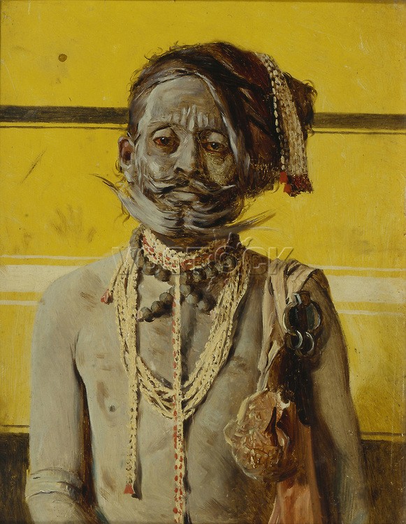 """A Fakir, 1874-1876. Found in the collection of the State Tretyakov Gallery, Moscow."""