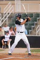 Jordan Danks (13) of the Kannapolis Intimidators at bat at Fieldcrest Cannon Stadium in Kannapolis, NC, Saturday August 24, 2008. (Photo by Brian Westerholt / Four Seam Images)