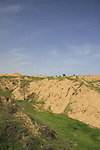 Israel, the northern Negev. Scenery by Besor route scenic road
