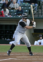 July 24, 2004:  First baseman Gary Burnham of the Louisville Bats, Triple-A International League affiliate of the Cincinnati Reds, during a game at Frontier Field in Rochester, NY.  Photo by:  Mike Janes/Four Seam Images
