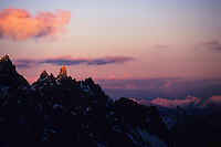 Clocher de Clouzis at sunset, Oisans, France, 2007