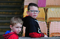 Lincoln City fans enjoy the pre-match atmosphere<br /> <br /> Photographer Andrew Vaughan/CameraSport<br /> <br /> The EFL Sky Bet League Two - Port Vale v Lincoln City - Saturday 14th April 2018 - Vale Park - Burslem<br /> <br /> World Copyright &copy; 2018 CameraSport. All rights reserved. 43 Linden Ave. Countesthorpe. Leicester. England. LE8 5PG - Tel: +44 (0) 116 277 4147 - admin@camerasport.com - www.camerasport.com