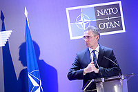 Madrid <br /> Secretary General of NATO Jens Stoltenberg in press conference. January 25,2018. (ALTERPHOTOS/Acero/Insidefoto)