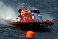 Shaun Torrente (#42) tests his backup boat.   (Formula 1/F1/Champ class)
