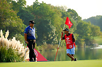 Kiradech Aphibarnrat (THA) on the 18th green during the 3rd round at the WGC HSBC Champions 2018, Sheshan Golf CLub, Shanghai, China. 27/10/2018.<br /> Picture Fran Caffrey / Golffile.ie<br /> <br /> All photo usage must carry mandatory copyright credit (&copy; Golffile | Fran Caffrey)