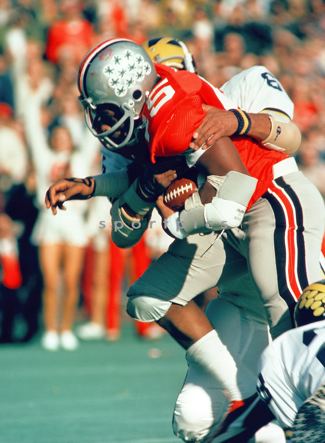 Ohio State Buckeyes Archie Griffin (45) during a game from his career against the Michigan Wolverines. Archie Griffin won back-to-back Heisman Trophies in 1974 and 1975.(SportPics)