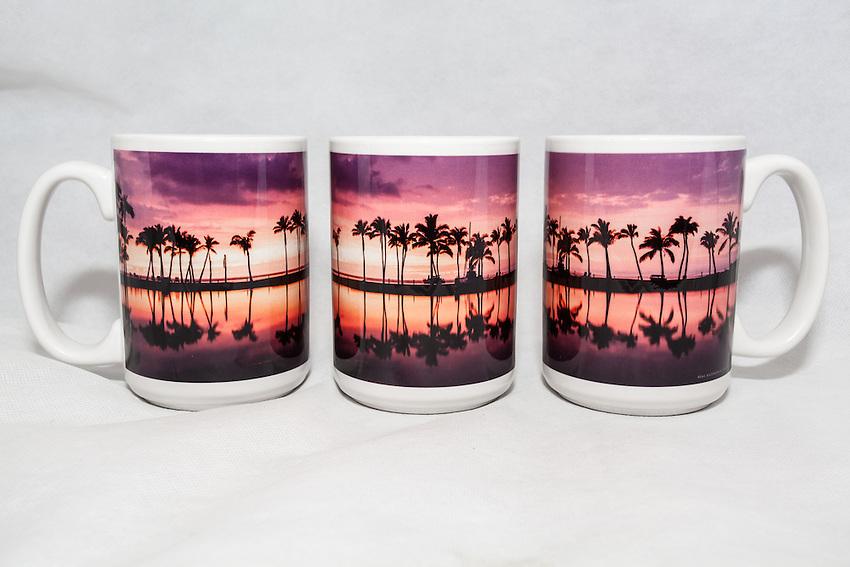 15 oz. Mug  - Waikoloa Sunset Palms - $25 + $6 shipping.<br /> Contact me to order.