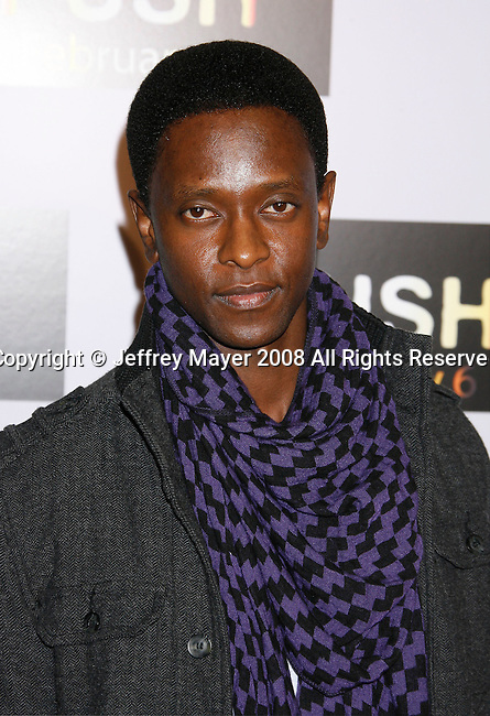"WESTWOOD, CA. - January 29: Actor Edi Gathegi arrives at the Los Angeles Premiere of ""Push"" at the Mann Village Theater on January 29, 2009 in Westwood, California."