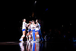 KANSAS CITY, MO - DECEMBER 16: Lindsey Rogers (25) of the University of Florida is introduce during player introductions at the Division I Women's Volleyball Championship held at Sprint Center on December 16, 2017 in Kansas City, Missouri. (Photo by Jamie Schwaberow/NCAA Photos via Getty Images)