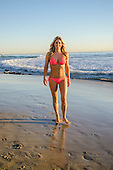 Stock photo Woman in bikini at a Southern California beach