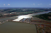 Parana State, Brazil. Aerial view of the Itaipu Hydroelectric Dam.