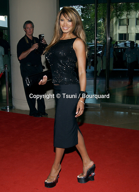 """Traci Bingham (Baywatch) at the """" 5th Annual Family Television Awards """" at the Bever;ly Hilton in Los Angeles. August 14, 2003."""