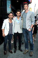June 20, 2012 Tahj Mowry, Jean-Luc Bilodeau and Derek Theier at Good Morning America in New York City to talk about the new ABC Family TV series Baby Daddy. © RW/MediaPunch Inc. NORTEPHOTO<br />