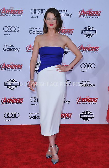 WWW.ACEPIXS.COM<br /> <br /> April 13 2015, LA<br /> <br /> Cobie Smulders arriving at the Premiere Of Marvel's 'Avengers: Age Of Ultron' at the Dolby Theatre on April 13, 2015 in Hollywood, California.<br /> <br /> <br /> By Line: Peter West/ACE Pictures<br /> <br /> <br /> ACE Pictures, Inc.<br /> tel: 646 769 0430<br /> Email: info@acepixs.com<br /> www.acepixs.com