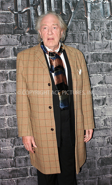 WWW.ACEPIXS.COM . . . . .  ....April 4 2011, New York City....Michael Gambon at the opening of Harry Potter: The Exhibition at the Discovery Times Square Exposition Center on April 4, 2011 in New York City.....Please byline: NANCY RIVERA- ACE PICTURES.... *** ***..Ace Pictures, Inc:  ..tel: (212) 243 8787 or (646) 769 0430..e-mail: info@acepixs.com..web: http://www.acepixs.com