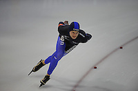SCHAATSEN: GRONINGEN: Sportcentrum Kardinge, 03-02-2013, Seizoen 2012-2013, Gruno Bokaal, Dedjer Wymenga, ©foto Martin de Jong