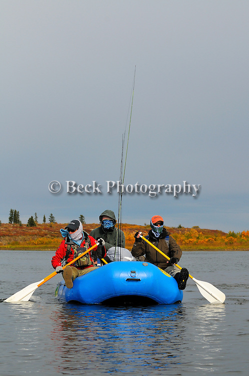 the big Ku Alaska, fall season,on a raft