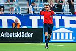Stockholm 2014-07-07 Fotboll Allsvenskan Djurg&aring;rdens IF - IF Elfsborg :  <br /> domare Markus Str&ouml;mbergsson g&ouml;r ett tecken<br /> (Foto: Kenta J&ouml;nsson) Nyckelord:  Djurg&aring;rden DIF Tele2 Arena Elfsborg IFE portr&auml;tt portrait domare referee ref
