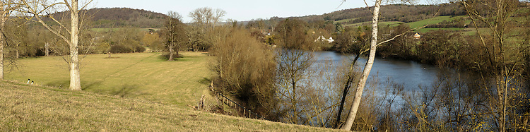 River Thames and the Chiltern Hills near Henley, Oxfordshire, UK