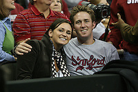 16 December 2006: Stanford Cardinal leland intern Katie Goldhahn during Stanford's 30-27, 26-30, 28-30, 27-30 loss against the Nebraska Huskers in the 2006 NCAA Division I Women's Volleyball Final Four Championship match at the Qwest Center in Omaha, NE.