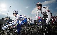 Ronde van Vlaanderen 2013..Ian Stannard (GBR) cornering
