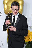 HOLLYWOOD, LOS ANGELES, CA, USA - MARCH 02: Steven Price at the 86th Annual Academy Awards - Press Room held at Dolby Theatre on March 2, 2014 in Hollywood, Los Angeles, California, United States. (Photo by Xavier Collin/Celebrity Monitor)