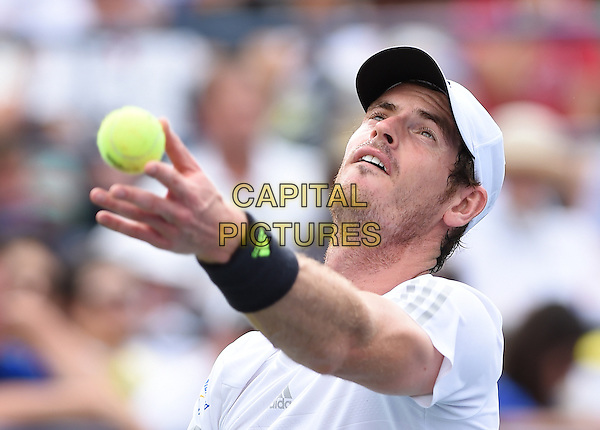 FLUSHING NY- AUGUST 30:  Andy Murray Vs Andrey Kuznetsov on Louis Armstrong Stadium at the USTA Billie Jean King National Tennis Center. Andy Murray serves against Victor Estrella Burgos during their match on August 30, 2014 in Flushing Queens. <br /> CAP/MPI/MPI04<br /> &copy;MPI04/MPI/Capital Pictures