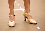 Deborah Cox, shoe detail, performing during the North American Premiere presentation of 'The Bodyguard' at The New 42nd Street Studios on November 10, 2016 in New York City.