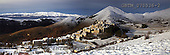 Tom Mackie, LANDSCAPES, panoramic, photos, Santo Stefano di Sessanio in Winter, Abruzzo, Italy, GBTM070536-2,#L#