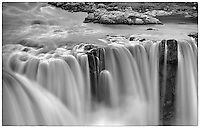 Powerful northern Icelandic waterfalls.