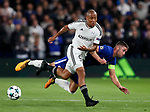 Chelsea's Gary Cahill tussles with Qarabag's Dino Ndlovu during the champions league match at Stamford Bridge Stadium, London. Picture date 12th September 2017. Picture credit should read: David Klein/Sportimage