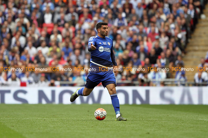 Hamza Bencherif of Halifax Town runs with the ball during Grimsby Town vs FC Halifax Town, FA Trophy Football at Wembley Stadium on 22nd May 2016