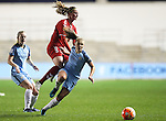Georgia Stanway of  Manchester City Women during the Women's Champions League last 16 tie, first leg between Manchester City Women and Brondby IF at the Academy Stadium. <br /> <br /> Photo credit should read: Lynne Cameron/Sportimage