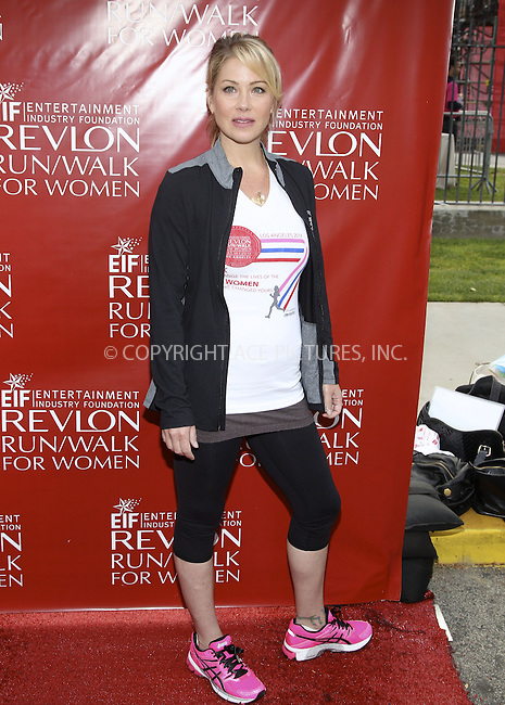 ACEPIXS.COM<br /> <br /> May 10 2014, LA<br /> <br /> Christina Applegate at the 21st Annual EIF Revlon Run Walk For Women at the Los Angeles Memorial Coliseum on May 10, 2014 in Los Angeles, California<br /> <br /> <br /> By Line: Nancy Rivera/ACE Pictures<br /> <br /> ACE Pictures, Inc.<br /> www.acepixs.com<br /> Email: info@acepixs.com<br /> Tel: 646 769 0430