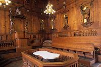 Europe/Italie/Emilie-Romagne/Bologne : Palais de l'Archiginnasio- théâtre anatomique XVI° siècle