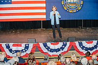 Democratic presidential candidate and Massachusetts senator Elizabeth Warren speaks at a campaign rally at Rochester Opera House in Rochester, New Hampshire, on Mon., Feb. 10, 2020. This is the final day of campaigning before voting in the primary happens on Feb. 11. Warren has fallen to 4th or 5th place in recent polls.