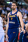 Spain's basketball player Pau Gasol during the  match of the preparation for the Rio Olympic Game at Madrid Arena. July 23, 2016. (ALTERPHOTOS/BorjaB.Hojas)