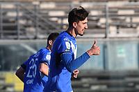 esultanza gol Emanuele Ndoj<br /> Brescia 23-02-2019 <br /> Football Serie B 2018/2019 Brescia - Crotone <br /> Foto Image Sport / Insidefoto