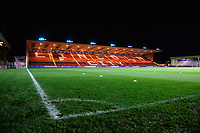 A general view of Sincil Bank, home of Lincoln City FC<br /> <br /> Photographer Chris Vaughan/CameraSport<br /> <br /> The FA Youth Cup Second Round - Lincoln City U18 v South Shields U18 - Tuesday 13th November 2018 - Sincil Bank - Lincoln<br />  <br /> World Copyright © 2018 CameraSport. All rights reserved. 43 Linden Ave. Countesthorpe. Leicester. England. LE8 5PG - Tel: +44 (0) 116 277 4147 - admin@camerasport.com - www.camerasport.com