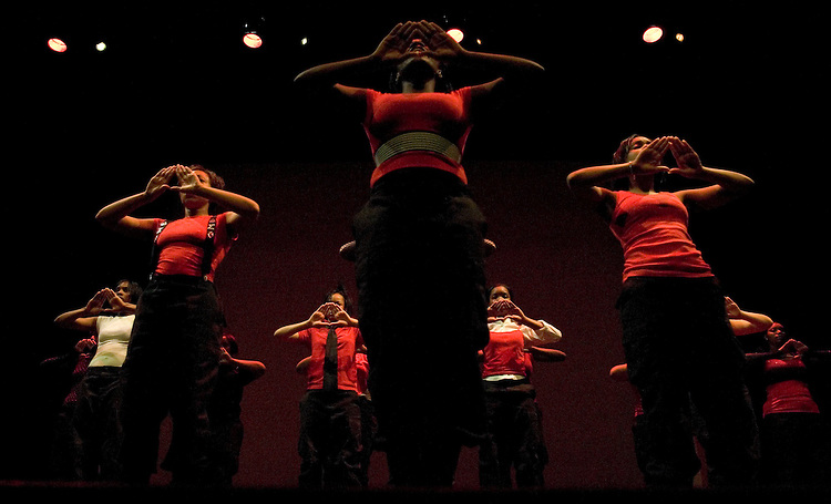 Members of Delta Sigma Theta sorority perform during the Greek alumni step show, Friday's entertainment for the O.U.'s Black Alumni Weekend on Friday, 5/18/07. The sorority was one of three O.U. Greek organizations competing in the show.